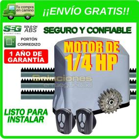 Kit Motor Portón Corredizo Automático Seg Solo Ch Abs 400 Kg