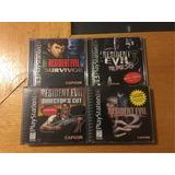 Resident Evil 1 2 3 Nemesis Survivor Ps1 Ps2 Lote