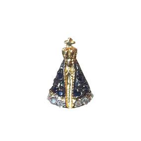 7263f399301b0 Pingente Nossa Senhora Ouro Safira Azul E Brilhantes - Pingentes no ...