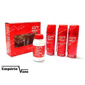 Kit Lubrificantes Silicone Spray/limpa Para-brisa/graxa