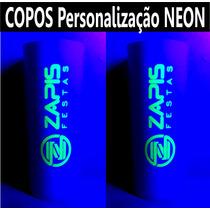 50 Copos Long Drink Personalizados Com Tinta Neon Festa