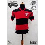 Belleza! Camiseta Rettro Flamengo 1980s Zico! Artesanales!