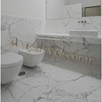 Porcelanato Simil Marmol Carrara 53x106 Catedral Rectificado