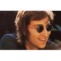 Lentes De John Lennon, Redondos, Negros, De Sol, Moda