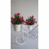 Bicicleta Decorativa Para Jardim Com 2 Vasos Decoracao
