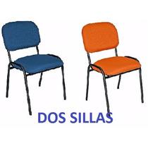 2 Dos Sillas De Visita Economica Tela O Vinil Envio S/costo