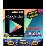 Tarjeta Google Play Store 50 Usd Usa   Entrega Inmediata!