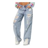 Calça Jeans Claro Cintura Média Planet Girls