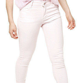 Jean Chupin Blanco Elastizado Mujer Jeans