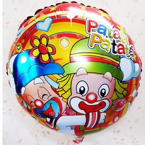 Varetas + Balão Para Festa Palhaço Patati E Patata 45cm