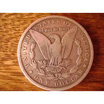 Espectacular Moneda Antigua Une Dolar De Plata 1898 Original
