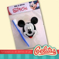 Mickey Y Minnie. Souvenir Cumpleaños Con Cepillo Dental