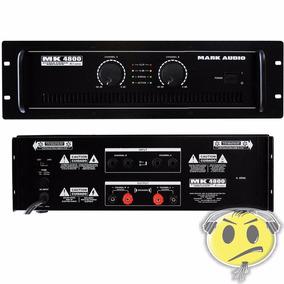 Amplificador Potência Mark Audio Mk4800 800w Loja Kadu Som