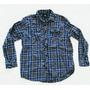 Camisa Leñadora Americana Escocesa Hombre Talle L