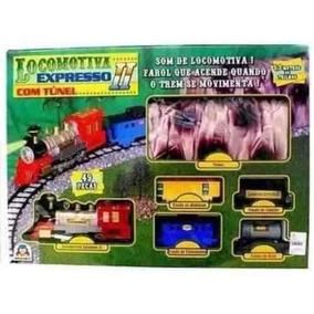 Locomotiva Ferrorama Expresso 2 Com Tunel Braskit Original