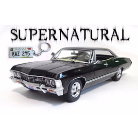 Chevrolet Impala 1967 Supernatural 1:24 Greenlight +chaveiro