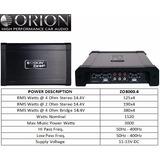 Amplificador Orion Serie Ztreet Modelo Zo3000.4