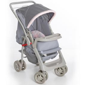 Carrinho De Bebê Galzerano Pegasus Cinza Rosa