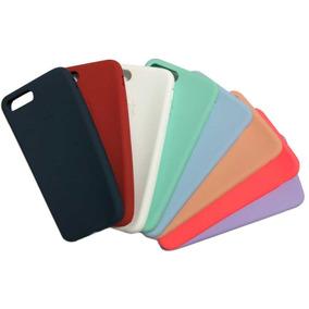 Capinha Case C/ Logo Apple, Silicone Iphone 7 8 7plus 8 Plus