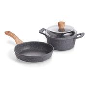 Maestro De Cocina - Set Granito Sarten 20cm & Cacerola 20cm
