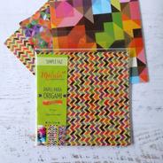 Motivo Geo, Papel Para Origami  Malula 15 X 15 Cm