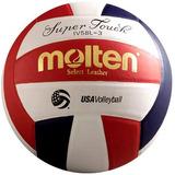 Molten Táctil Super Voleibol (rojo / Blanco / Azul, Oficial
