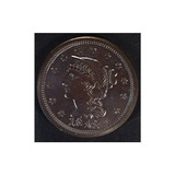 1848 Pelo Trenzado Limpio Cent Brilliant Uncirculated