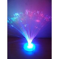10 Centro De Mesa Luminoso Fibra Optica Sin Pilas