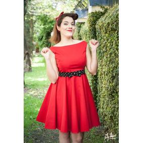 Vestido Vintage Clasico Falda Plato Gabardina Noche O Dia