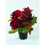 Arranjo Natal Flores Vermelho - Nªº Rosas Artificiais Vasos