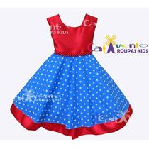 Vestido De Festa Infantil Bebê Galinha Pintadinha Promoção