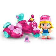 Pinypon Moto Con Figura Y Accesorios Nenas Vehiculo