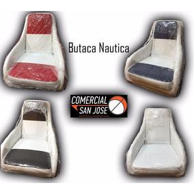 Butaca Silla Nautica Tapizada Deportiva C/plato Para Lanchas
