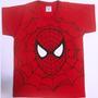 Camisa Infantil Kit C/ 3 Hulk Capitão America Homem Aranha