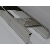 Puxador Inox 40cmpolido Portas De Vidro, Madeira E Alumínio.