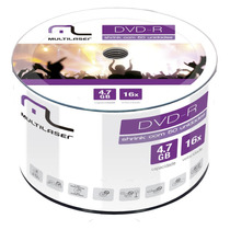 Midia Dvd-r 4.7gb Multilaser 16x Com 50 Shrink Dv061
