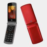 Lg G360 Con Tapa Teclado Grande, Color Rojo, Nuevo Libre