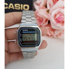 a5e6d6e2ac0 Casio A168 Prata - Relógios De Pulso no Mercado Livre Brasil