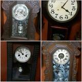 Ganga 4 Relojes Antiguos De Pared. 3 Ansonia Y 1 Junghans