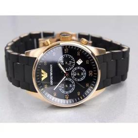 Relógio Homens De Luxo Emporio Armani Ar5905 Preto Ouro Rose