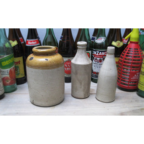 set botelln botella porron cerveza jarrn jarra barro gres