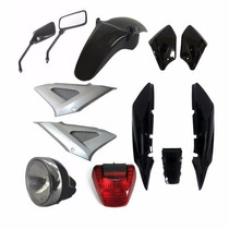 Kit Carenagem+ Farol+ Lanterna+ Retrovisor Cbx Twister Preto
