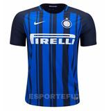 Camisa Nike Inter Milao 2017 2018 Home Original Pronta Entre