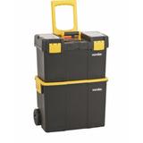 Caixa Plastica Bau C/ Rodas P/ Guardar Ferramentas Crv 0300