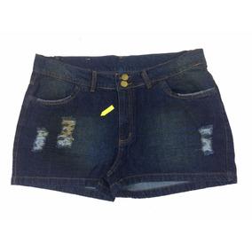Shorts Jeans Feminino Tamanho Grande 50 Com Defeito Ref 9020