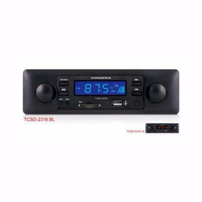 Toca Radio Powerpack Tcsd-2316 Sd Usb Azul
