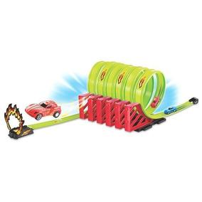 Pista Tipo Hotwheels Super Looping Com 2 Carrinhos Fricção