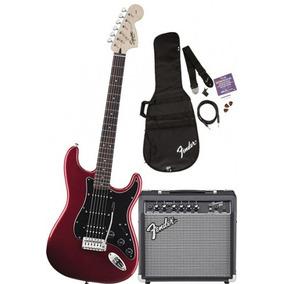 Kit Fender Squier Strat Hss Car + Frontman 15g + Acessórios