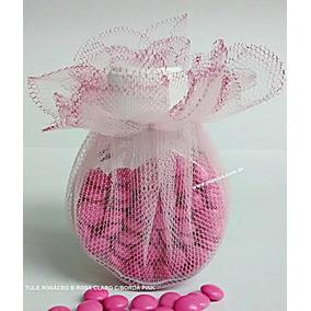Tule Rosáceo - 50 Un. Rosa Com Pink Tamanho 30 Cm