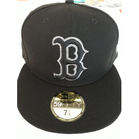 Gorra New Era Original 7 1 8 Boston Red Sox Negra  gris bdee9f53398